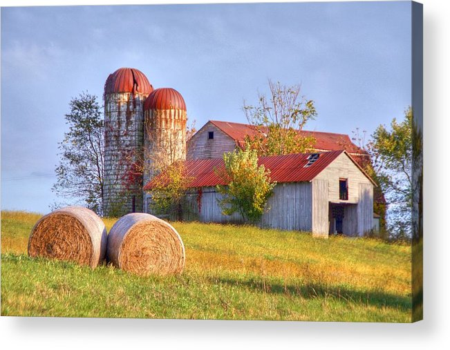 Barn Acrylic Print featuring the photograph Two by Mitch Cat