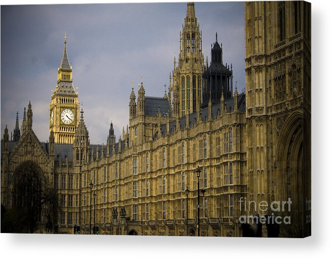 London Acrylic Print featuring the photograph Golden Big Ben by Joshua Francia