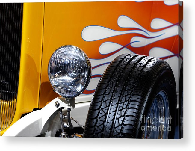 Hot Rod Acrylic Print featuring the photograph Hot Rod Ford Hi-boy Coupe 1932 by Maxim Images Prints