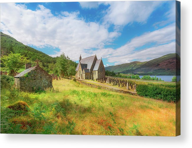 Ballichulish Church Acrylic Print featuring the photograph The Old Highland Church by Roy McPeak