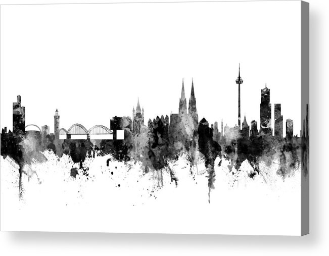 Cologne Germany Skyline Acrylic Print By Michael Tompsett