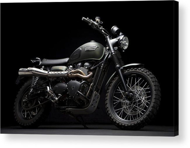 Triumph Acrylic Print featuring the photograph Jurassic Scrambler by Keith May