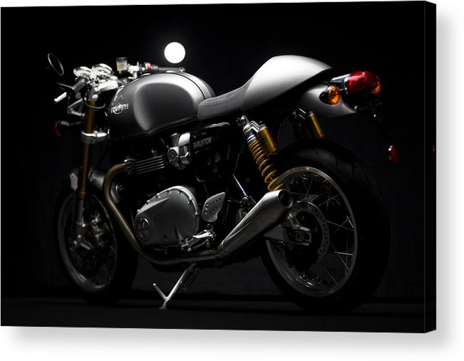 Triumph Acrylic Print featuring the photograph 2016 Triumph Thruxton R by Keith May