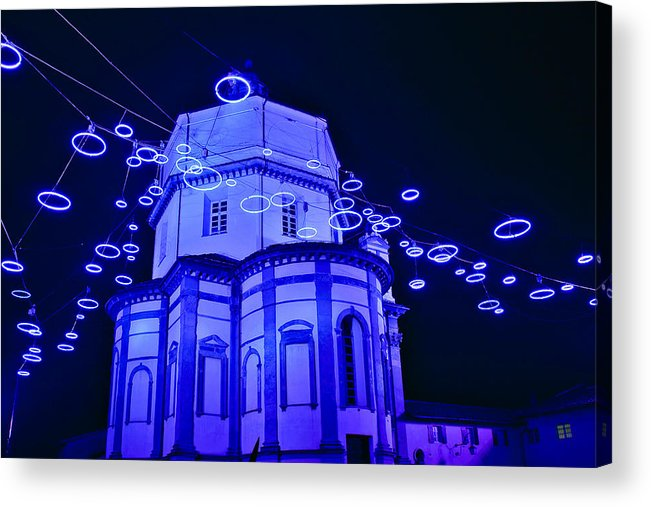 Italy Acrylic Print featuring the photograph Holiday Lights by Carl Jackson