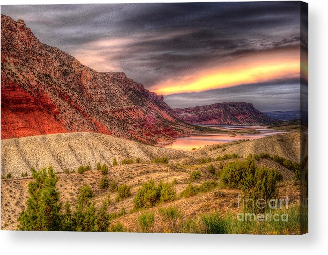 Places Acrylic Print featuring the photograph Sheep Creek Bay by Dennis Hammer