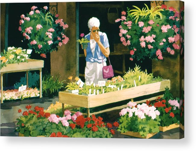 Figure Acrylic Print featuring the painting A Big Decision by Faye Ziegler