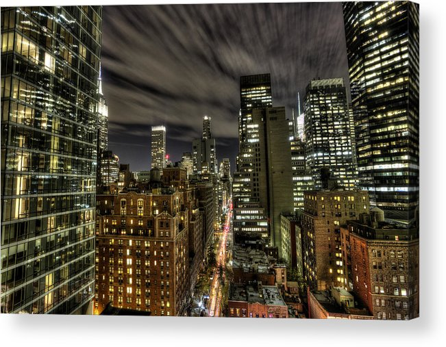 New York City Acrylic Print featuring the photograph A New York City Night by Shawn Everhart