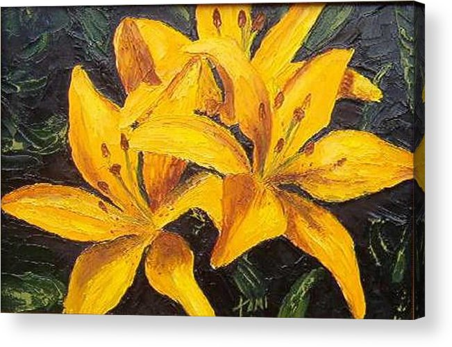 Acrylic Print featuring the painting A touch of Gold by Tami Booher