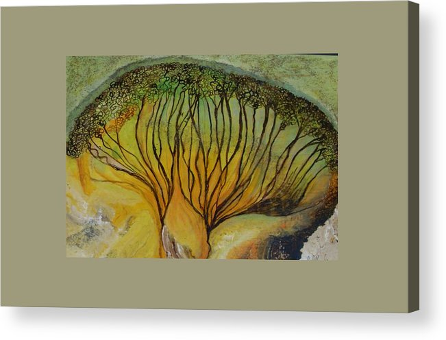 Acrylic Print featuring the painting AA dream by Carol P Kingsley