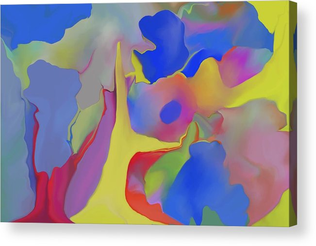 Abstract Acrylic Print featuring the digital art Abstract Landscape by Peter Shor