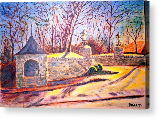 Oil Acrylic Print featuring the painting Afternoon at Clayton road by Horacio Prada