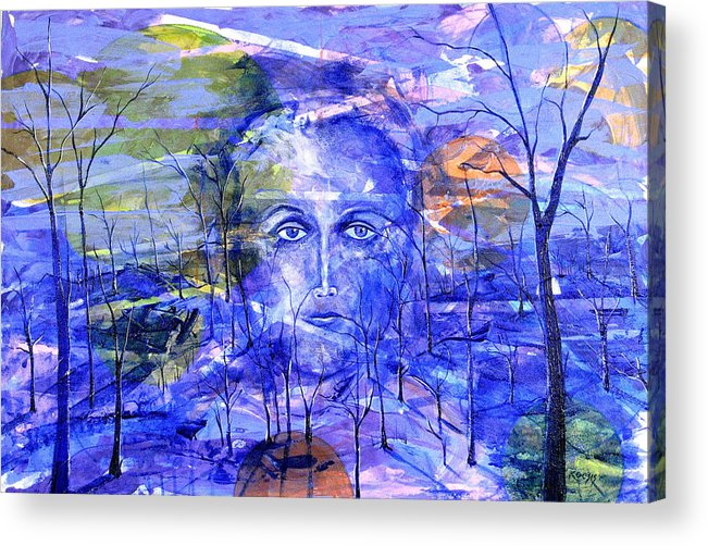 New Age Acrylic Print featuring the painting All Roads Lead To You by Rollin Kocsis