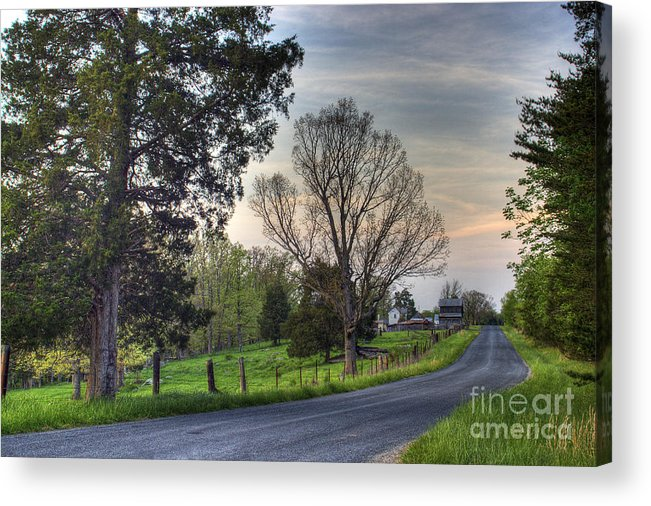 Virginia Acrylic Print featuring the photograph Almost Home by Pete Hellmann