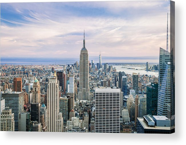 Empire State Building Acrylic Print featuring the photograph Amazing Manhattan by Az Jackson