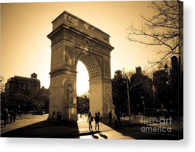 Washington Square Park Acrylic Print featuring the photograph Arch of Washington by Joshua Francia