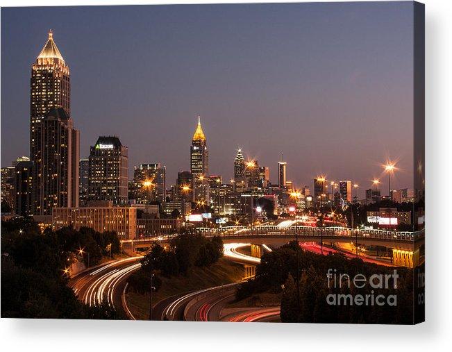Atlanta Acrylic Print featuring the photograph Atlanta Skyline - Scad by Jennifer Ludlum
