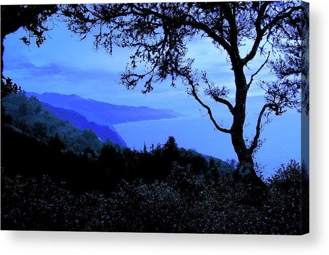 Nature Acrylic Print featuring the photograph Big Sur Blue, California by Zayne Diamond Photographic