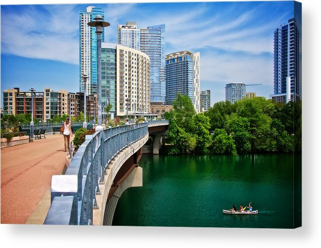 Austin Acrylic Print featuring the photograph Bridge With A View by Zayne Diamond Photographic