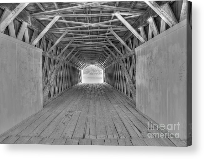 Hdr Acrylic Print featuring the photograph Bridges of Madison County by David Bearden