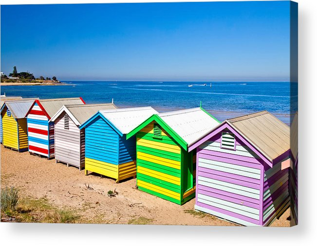 Australia st kilda beach huts art landscape photo prints sunny day