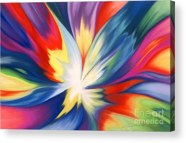 Abstract Acrylic Print featuring the painting Burst Of Joy by Lucy Arnold