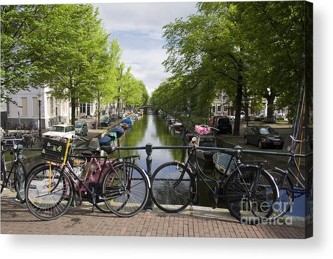 Amsterdam Acrylic Print featuring the photograph Canal of Amsterdam by Joshua Francia