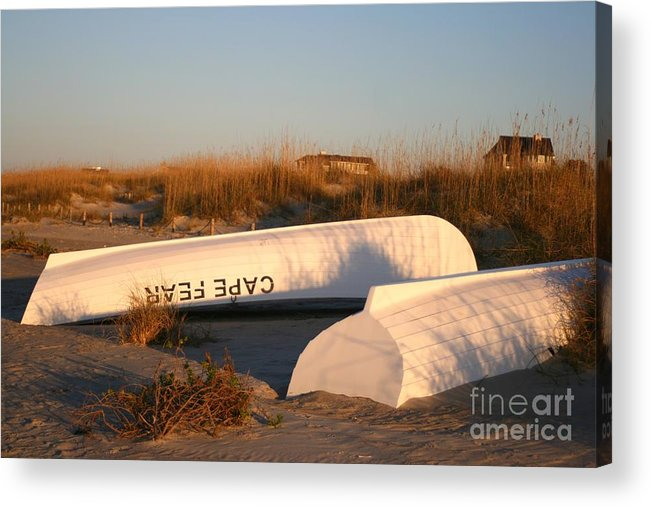 Boats Acrylic Print featuring the photograph Cape Fear Boats by Nadine Rippelmeyer