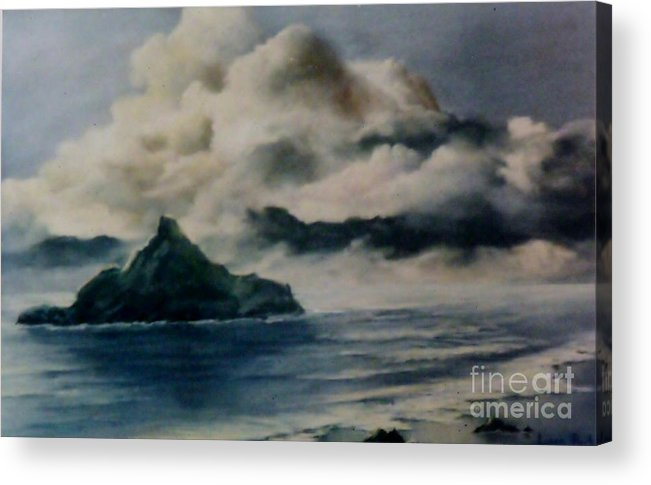 Castle Rock Acrylic Print featuring the painting Castle Rock by Lynne Parker