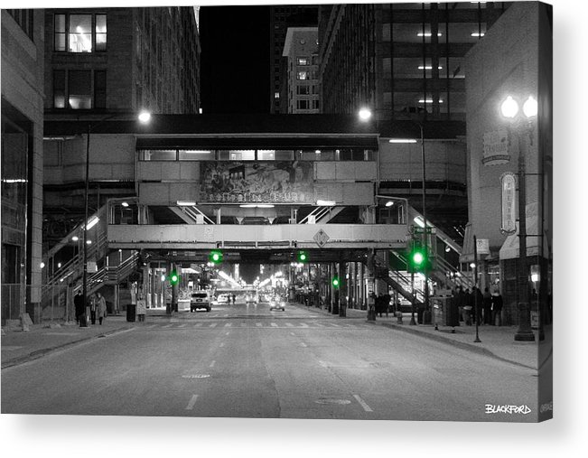 Chicago Acrylic Print featuring the photograph Chicago Train Station by Al Blackford