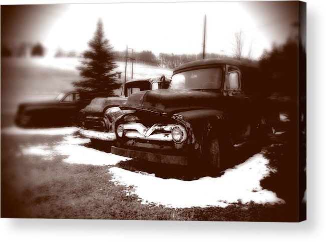 Old Cars Acrylic Print featuring the photograph Chocolate Ghosts by Jean Macaluso