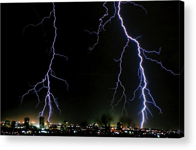 Arizona Acrylic Print featuring the photograph City Lights by Cathy Franklin