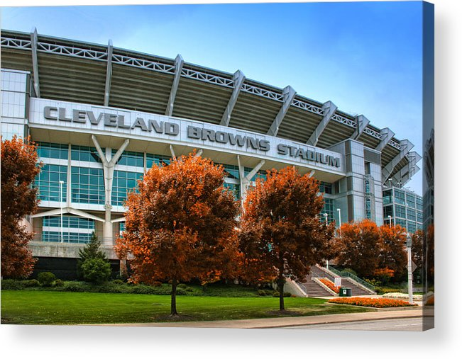 Cleveland Acrylic Print featuring the photograph Cleveland Browns Stadium by Kenneth Krolikowski