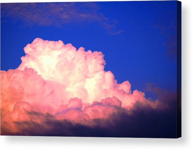 Clouds Acrylic Print featuring the photograph Clouds in Mystical Sky by Lisa Johnston
