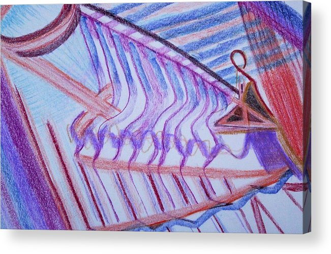 Abstract Acrylic Print featuring the painting Construction by Suzanne Udell Levinger
