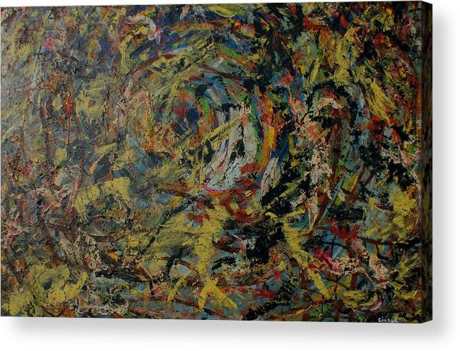 Acrylic Print featuring the painting Cosmic wars by Biagio Civale