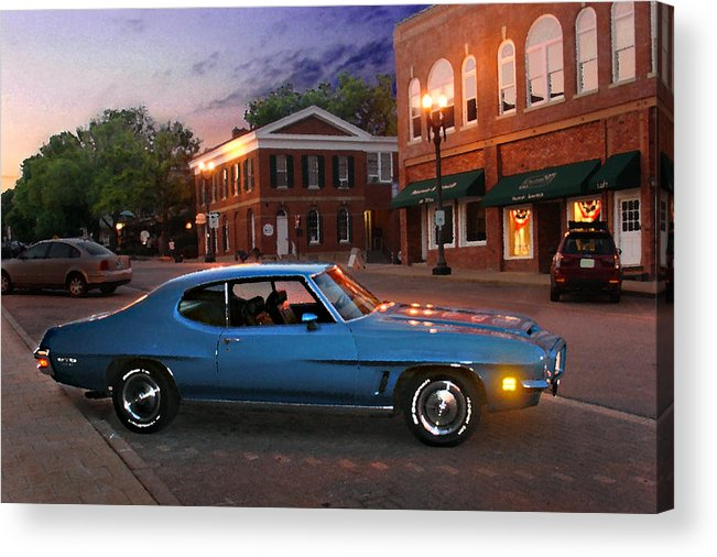 Landcape Acrylic Print featuring the photograph Cruise Night in Liberty by Steve Karol