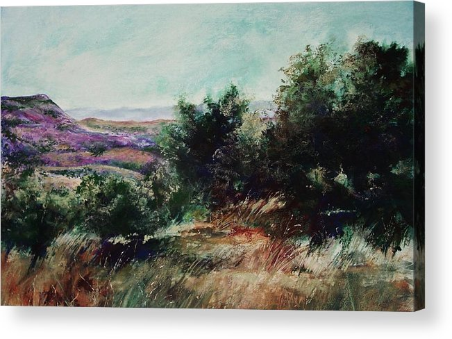Pastel Acrylic Print featuring the painting Davis Mountain by Marlene Gremillion