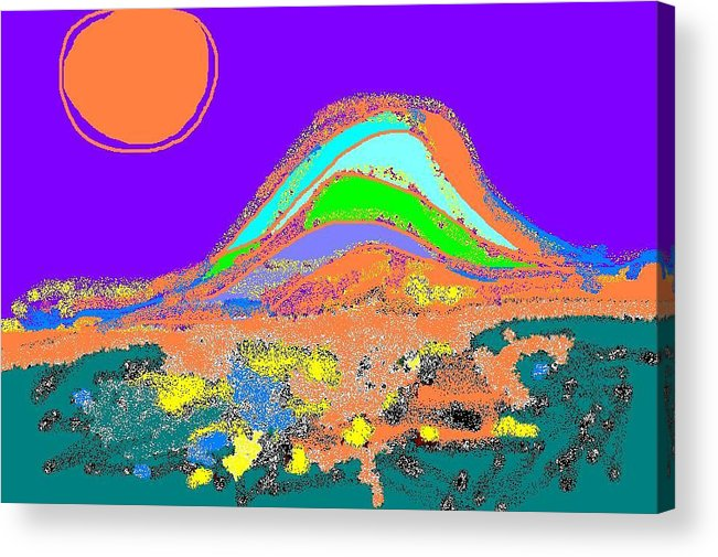 Acrylic Print featuring the digital art Dawn II by Beebe Barksdale-Bruner