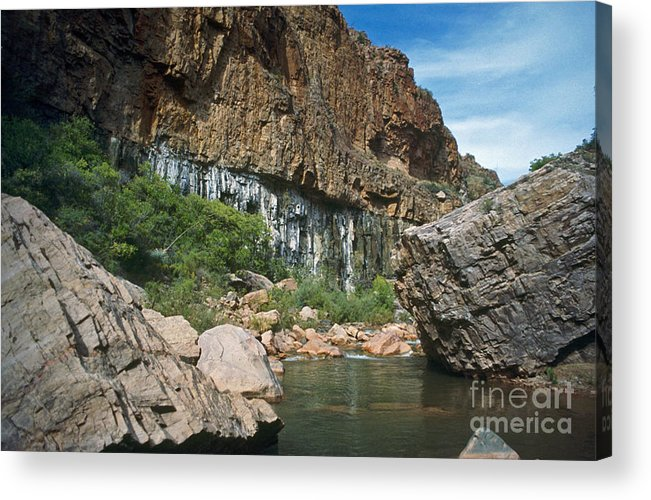 Landscape Acrylic Print featuring the photograph Deep Water by Kathy McClure
