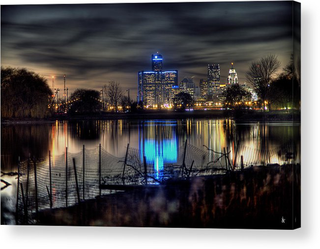 King Kong Acrylic Print featuring the photograph Detroit Reflections by Nicholas Grunas