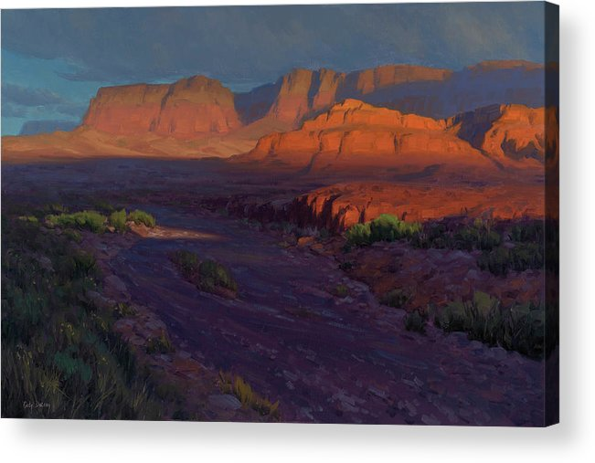 Western Landscapes Acrylic Print featuring the painting Emerging 24x36 by Cody DeLong