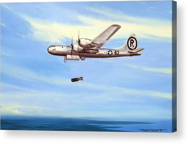 Military Acrylic Print featuring the painting Enola Gay by Marc Stewart