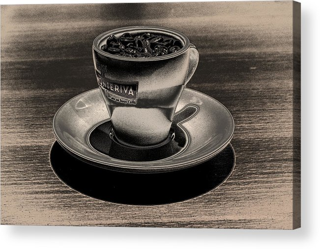 Cafe Acrylic Print featuring the photograph Expresso.Piccolo.ARGENTEO by Robert Litewka