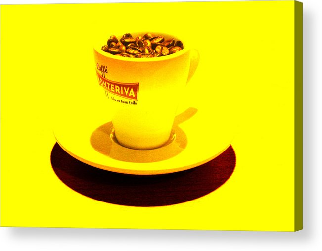 Cafe Acrylic Print featuring the photograph Expresso.Piccolo.GIALLO by Robert Litewka
