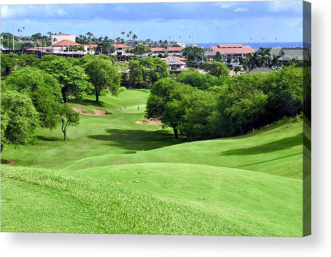 Golf Courses Acrylic Print featuring the photograph Fairway at Dunes of Maui Lani by Kirsten Giving
