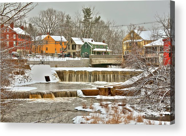 Exeter New Hampshire Acrylic Print featuring the photograph Falls on Exeter River by Diana Nault