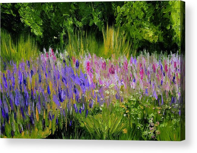 Konkol Acrylic Print featuring the painting Fields of Purple by Lisa Konkol