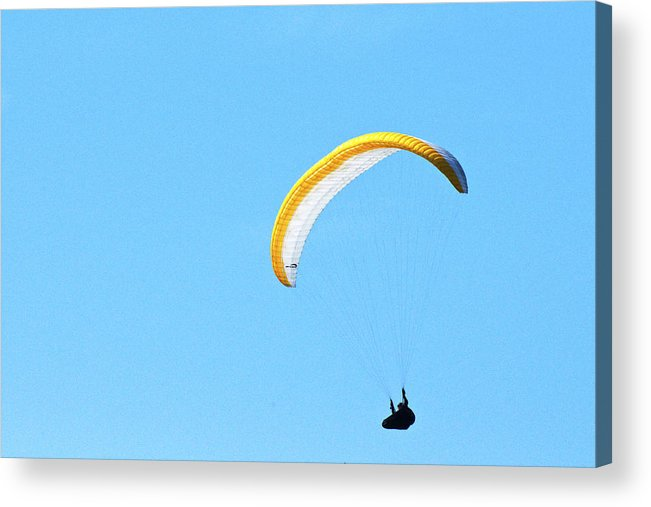 Hang Glider Acrylic Print featuring the photograph Floating on Air by Richard Henne