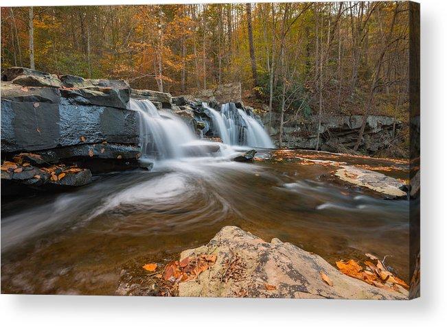 Brush Creek Falls Acrylic Print featuring the photograph From The Top Brush Creek Falls by Rick Dunnuck