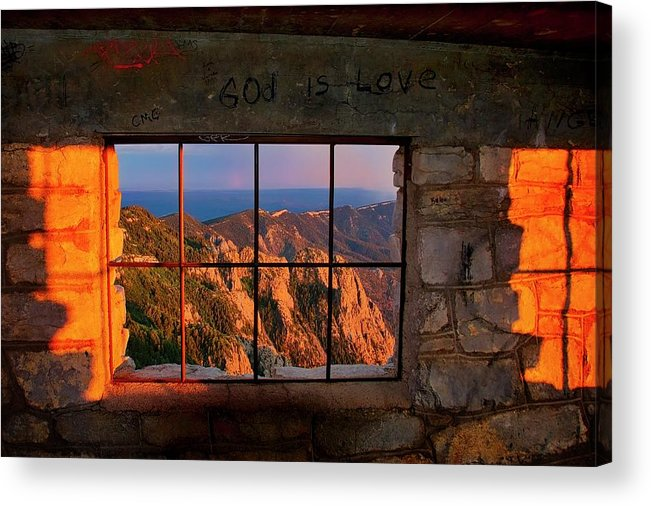 Nature Acrylic Print featuring the photograph God is Love by Zayne Diamond Photographic